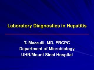 Laboratory Diagnostics in Hepatitis