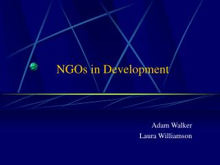 NGOs in Development