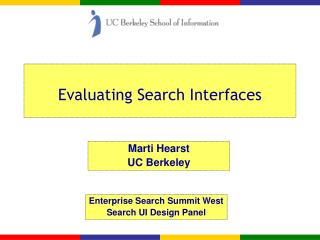 Evaluating Search Interfaces