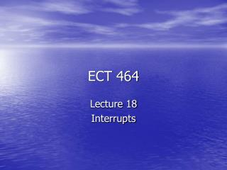 ECT 464