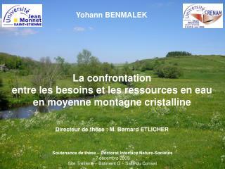 Soutenance de thèse – Doctorat Interface Nature-Sociétés 7 décembre 2009