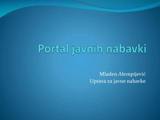 Portal javnih nabavki