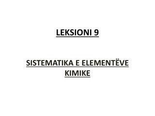 LEKSIONI 9