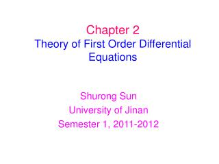 Chapter 2 Theory of First Order Differential Equations