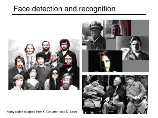 Face detection and recognition