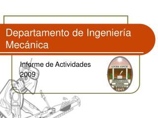Departamento de Ingenier�a Mec�nica