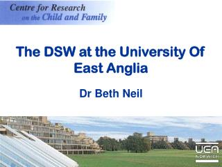 The DSW at the University Of East Anglia