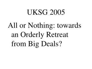 UKSG 2005