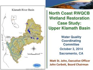 North Coast RWQCB Wetland Restoration Case Study:  Upper Klamath Basin