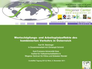 Wertschöpfungs- und Arbeitsplatzeffekte des kombinierten Verkehrs in Österreich