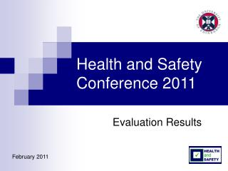 Health and Safety Conference 2011