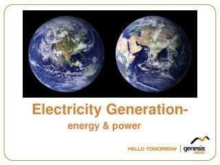 Electricity Generation-