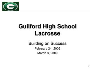 Guilford High School Lacrosse