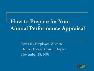 How to Prepare for Your Annual Performance Appraisal