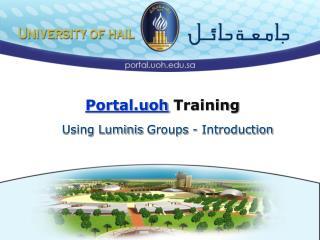 Portal.uoh Training