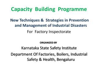 Capacity  Building   Programme