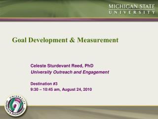 Goal Development & Measurement