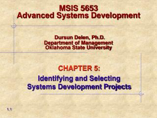 CHAPTER 5: Identifying and Selecting    Systems Development Projects