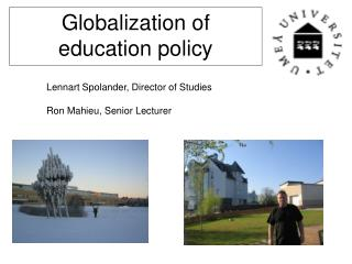 Globalization of education policy