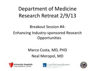 Department of Medicine Research Retreat 2/9/13