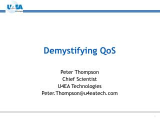Demystifying QoS