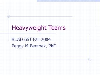 Heavyweight Teams