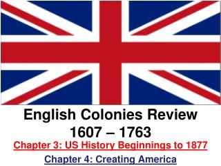 English Colonies Review 1607 – 1763