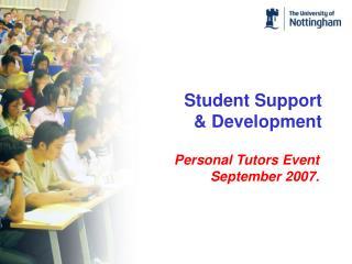Student Support & Development