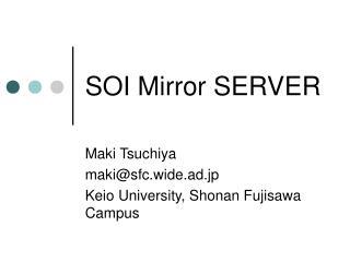 SOI Mirror SERVER