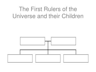 The First Rulers of the Universe and their Children
