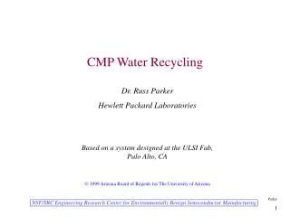 CMP Water Recycling