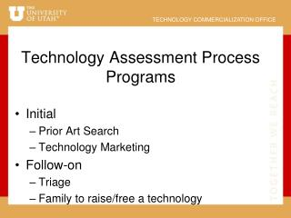 Technology Assessment Process Programs