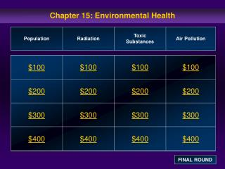 Chapter 15: Environmental Health