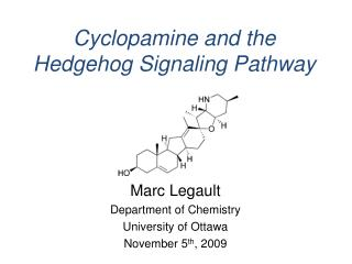 Cyclopamine and the Hedgehog Signaling Pathway