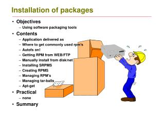 Installation of packages