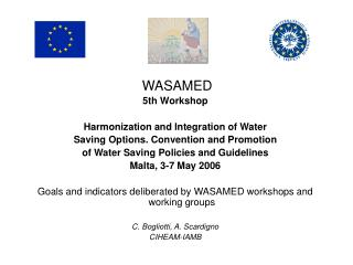WASAMED  5th Workshop  Harmonization and Integration of Water