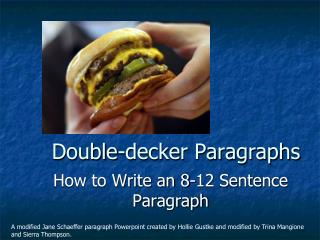 Double-decker Paragraphs
