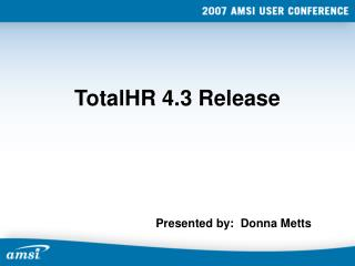 TotalHR 4.3 Release