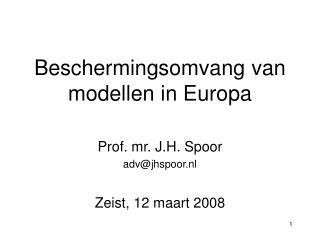 Beschermingsomvang van modellen in Europa