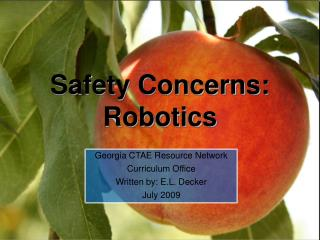 Safety Concerns: Robotics