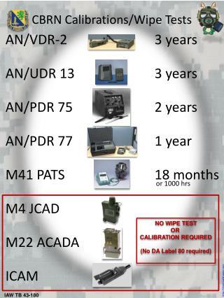 AN/VDR-23 years AN/UDR 133 years AN/PDR 752 years AN/PDR 771 year