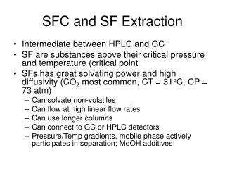 SFC and SF Extraction