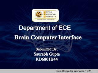 Department of ECE