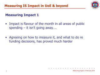Measuring Impact 1