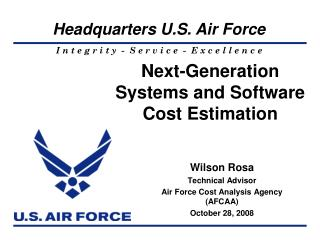 Next-Generation  Systems and Software  Cost Estimation