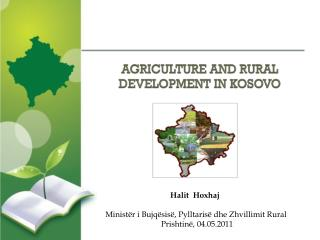 AGRICULTURE AND RURAL DEVELOPMENT IN KOSOVO