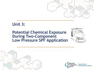Unit 3:  Potential Chemical Exposure  During Two-Component  Low Pressure SPF Application
