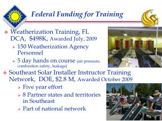 Federal Funding for Training