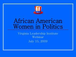 African American Women in Politics