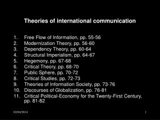 Theories of international communication